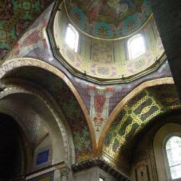 《利沃夫亞美尼亞大教堂的馬賽克》約瑟夫?梅侯菲(J&amp#243zef Mehoffer)高清作品欣賞