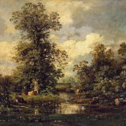 《森林景觀》朱班·杜雷(Jules Dupre)高清作品欣賞
