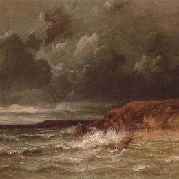 《海洋景觀(圣昆廷海角和沙丘)》朱班·杜雷(Jules Dupre)高清作品欣賞