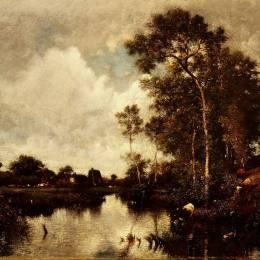 《河流》朱班·杜雷(Jules Dupre)高清作品欣賞