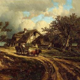 《鄉村景觀》朱班·杜雷(Jules Dupre)高清作品欣賞