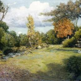 《秋日》朱利安·奧爾登·威爾(Julian Alden Weir)高清作品欣賞