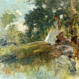 《坐姿景觀》朱利安·奧爾登·威爾(Julian Alden Weir)高清作品欣賞