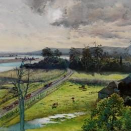 朱利安·艾斯通(Julian Ashton)高清作品:Shoalhaven River, junction with Broughton Creek, New South W