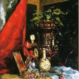 《亞洲物品靜物》朱利葉斯·勒布朗·斯圖爾特(Julius LeBlanc Stewart)高清作品欣賞