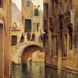 《威尼斯運河》朱利葉斯·勒布朗·斯圖爾特(Julius LeBlanc Stewart)高清作品欣賞