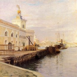 《威尼斯觀(道達納)》朱利葉斯·勒布朗·斯圖爾特(Julius LeBlanc Stewart)高清作品欣賞