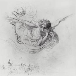 《飛行天使哀悼宗教法庭受難者》卡爾·布留洛夫(Karl Bryullov)高清作品欣賞