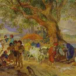 《君士坦丁堡附近的甜水》卡爾·布留洛夫(Karl Bryullov)高清作品欣賞