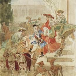 《路易斯十五童年行走》卡爾·布留洛夫(Karl Bryullov)高清作品欣賞
