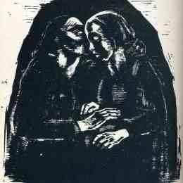 《瑪麗和伊麗莎白》凱綏·珂勒惠支(Kathe Kollwitz)高清作品欣賞