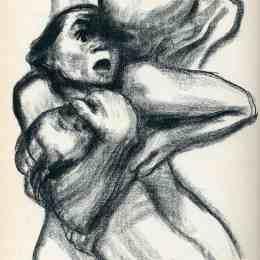 《抓住女人的死亡》凱綏·珂勒惠支(Kathe Kollwitz)高清作品欣賞