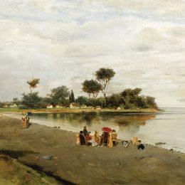 《岸上的優雅人物》康斯坦丁·沃拉納基思(Konstantinos Volanakis)高清作品欣賞