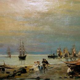 《海景》康斯坦丁·沃拉納基思(Konstantinos Volanakis)高清作品欣賞