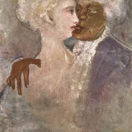 拉霍斯古拉西(Lajos Gulacsy)高清作品:The Mulatto and the Sculpturesque White Woman