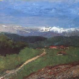 拉斯洛·梅德雅恩斯基(Laszlo Mednyanszky)高清作品:Landscape in the Alps (View from the Rax)