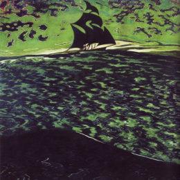 《海上帆船》萊昂·施皮利亞特(Leon Spilliaert)高清作品欣賞