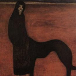 《年輕的女人和狗》萊昂·施皮利亞特(Leon Spilliaert)高清作品欣賞