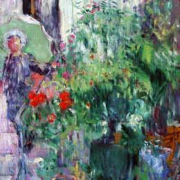 《在花園里,凡爾賽宮》劉易斯·瓦爾塔(Louis Valtat)高清作品欣賞