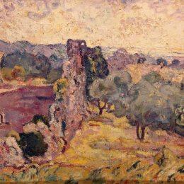 《法國南部景觀》劉易斯·瓦爾塔(Louis Valtat)高清作品欣賞