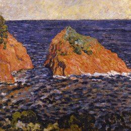 《海里的巖石》劉易斯·瓦爾塔(Louis Valtat)高清作品欣賞