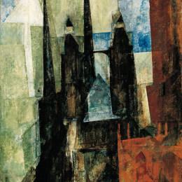 《米諾雷特教堂二》萊昂內爾·法寧格(Lyonel Feininger)高清作品欣賞