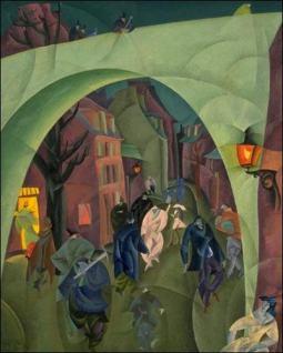 《绿桥二号》莱昂内尔·法宁格(Lyonel Feininger)高清作品欣赏