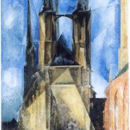 《哈雷市場教會》萊昂內爾·法寧格(Lyonel Feininger)高清作品欣賞