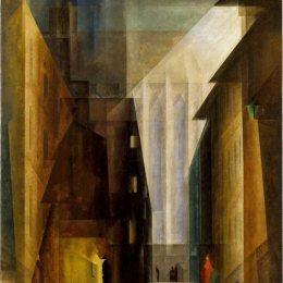 《少數民族教會》萊昂內爾·法寧格(Lyonel Feininger)高清作品欣賞