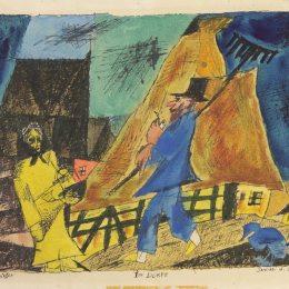 《在村莊里》萊昂內爾·法寧格(Lyonel Feininger)高清作品欣賞