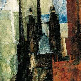 《圣瑪麗教堂與箭》萊昂內爾·法寧格(Lyonel Feininger)高清作品欣賞