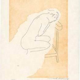 《裸脫衣新娘》馬塞爾·杜尚(Marcel Duchamp)高清作品欣賞