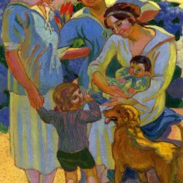 《圍繞著一個帶狗的孩子》莫里斯·丹尼斯(Maurice Denis)高清作品欣賞