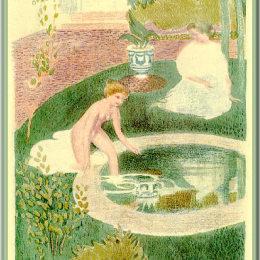 《噴泉中的倒影》莫里斯·丹尼斯(Maurice Denis)高清作品欣賞