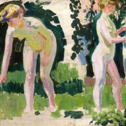 《戶外裸體運動的兩項研究》莫里斯·丹尼斯(Maurice Denis)高清作品欣賞