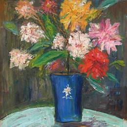 《花瓶》莫里斯·郁特里羅(Maurice Utrillo)高清作品欣賞