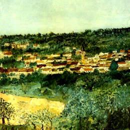 《蒙馬尼觀》莫里斯·郁特里羅(Maurice Utrillo)高清作品欣賞