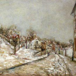 《蓬圖瓦茲觀》莫里斯·郁特里羅(Maurice Utrillo)高清作品欣賞