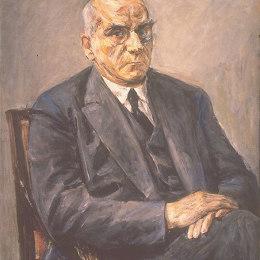 《奧托布勞恩的肖像》馬克思·利伯曼(Max Liebermann)高清作品欣賞