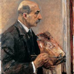 《調色板的自畫像》馬克思·利伯曼(Max Liebermann)高清作品欣賞