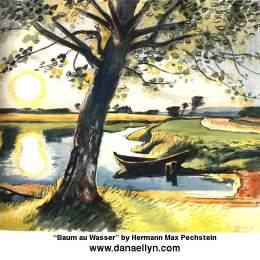 《水中樹》馬克斯·佩希斯泰因(Max Pechstein)高清作品欣賞