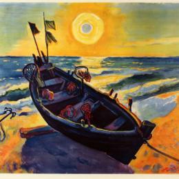 《森賴斯船》馬克斯·佩希斯泰因(Max Pechstein)高清作品欣賞