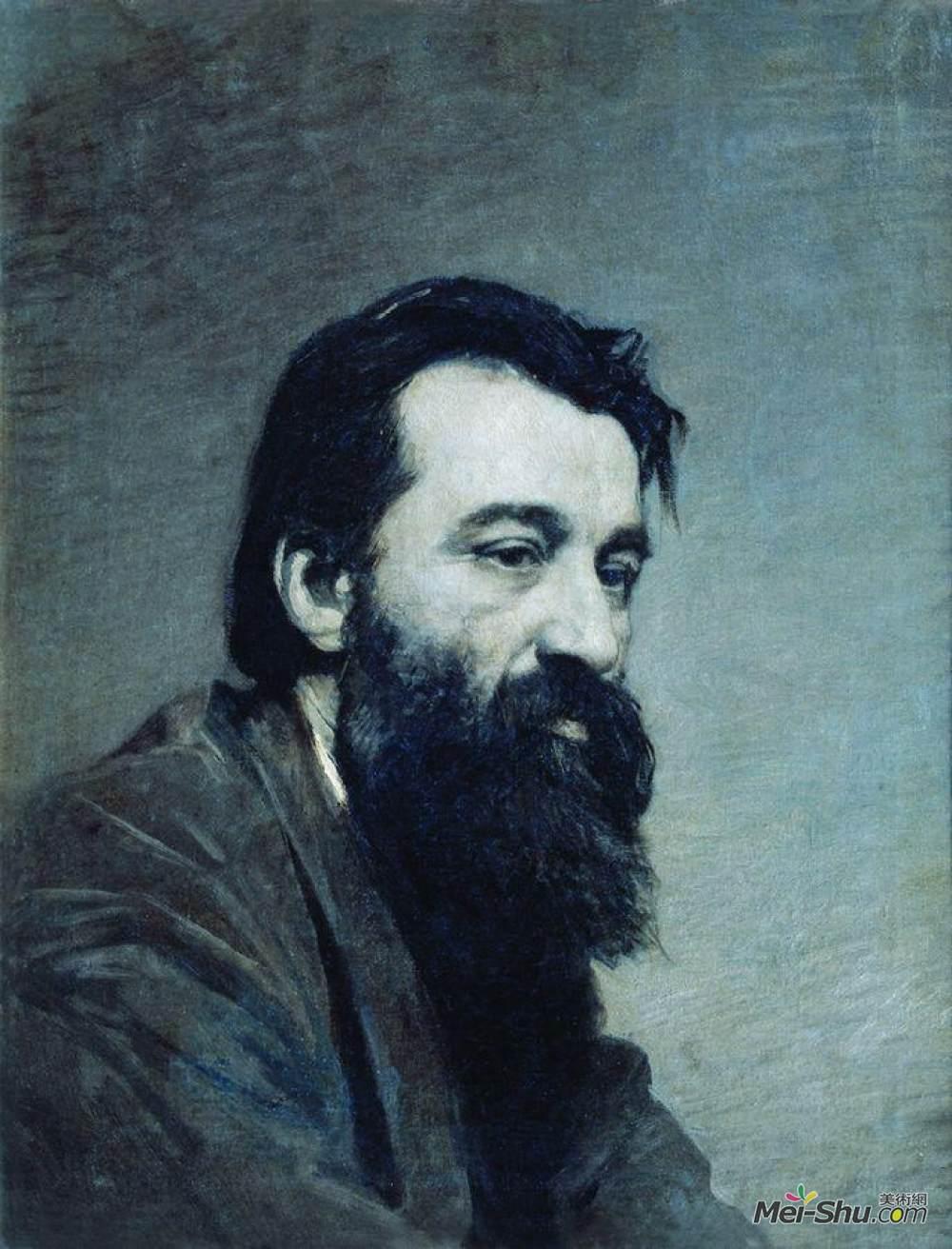 米科拉雅罗申科(Mykola Yaroshenko)高清作品《Portrait of Sergey Nikolaevich Amosov》