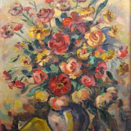 《用鮮花的花瓶》尼古拉·達拉斯庫(Nicolae Darascu)高清作品欣賞