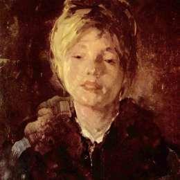 《女孩肖像》尼古拉·格里戈里斯丘(Nicolae Grigorescu)高清作品欣賞