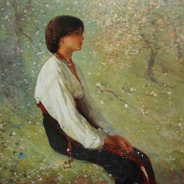 《彈簧(詳圖)》尼古拉·格里戈里斯丘(Nicolae Grigorescu)高清作品欣賞