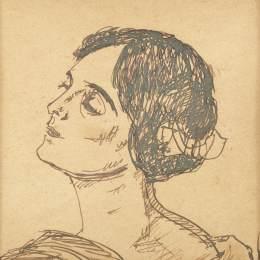 《??ㄌ丶{的畫像(畫家的妻子)》尼古拉托尼扎(Nicolae Tonitza)高清作品欣賞