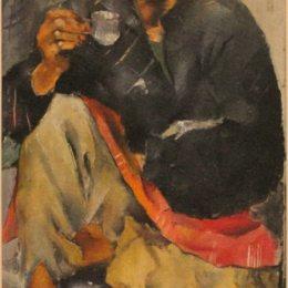 《吉普賽女人喝咖啡》尼古拉·馬丁諾斯基(Nikola Martinoski)高清作品欣賞