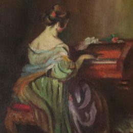 《彈鋼琴的女孩》尼古拉·馬丁諾斯基(Nikola Martinoski)高清作品欣賞