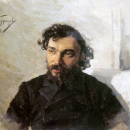 尼古萊·庫茲涅佐夫(Nikolai Kuznetsov)高清作品:Portrait of Artist Ivan Pokhitonov